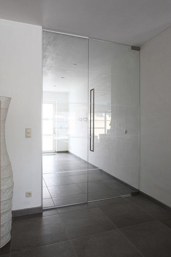 Стъклена врата на подов автомат