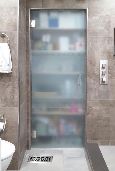 Стъклена врата с панти стена стъкло